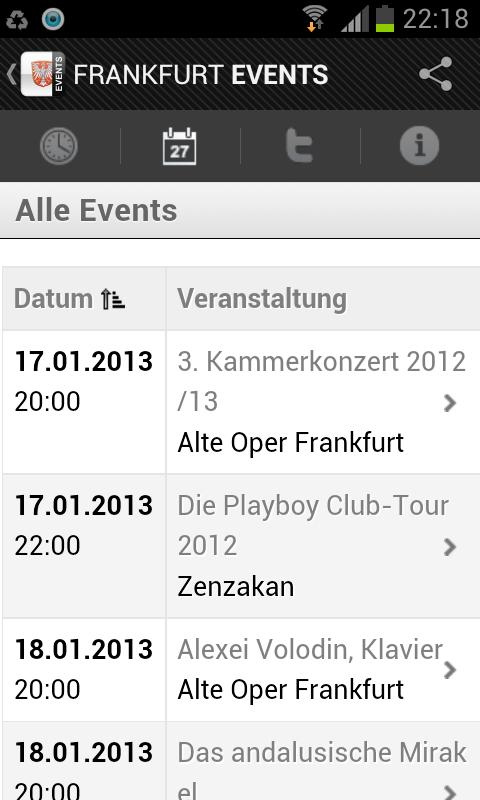 FRANKFURT EVENTS › Eventguide- screenshot