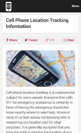 Cell Phone Tracker Tips 1.0 screenshot 9991