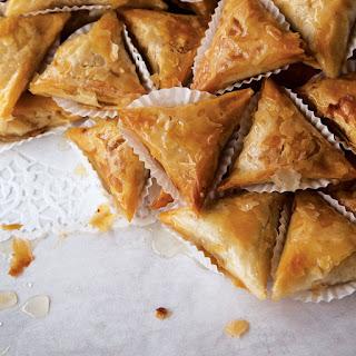 Samsa Feuille de Brick (Fried Almond Pastries)