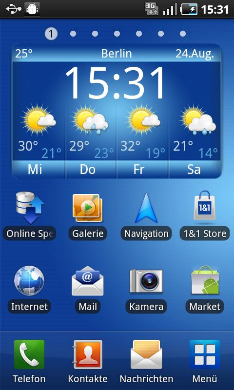 1&1 Wetter Widget (4x2) - screenshot