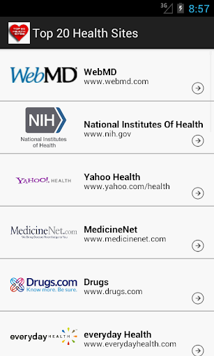 Top 20 Health Sites