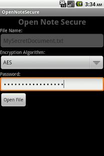 OpenNoteSecure- screenshot thumbnail