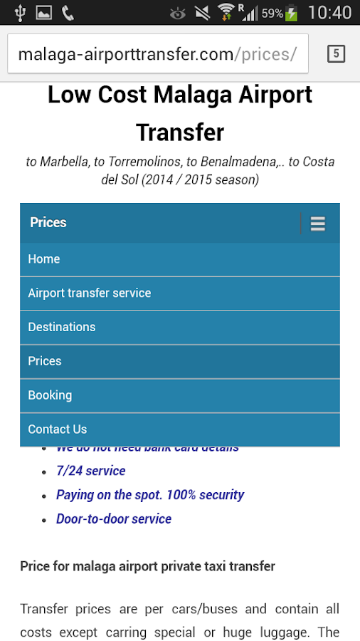 LowCost Malaga AirportTransfer- screenshot