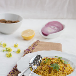 The Bengali Soul Food On A Rainy Day – Mung Bean Bhuna Khichuri With Pickled Onion.
