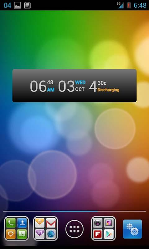 Battery Clock Calendar - screenshot