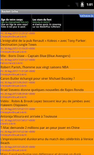 Basket Infos RSS