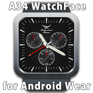 A34 WatchFace for Android Wear - náhled