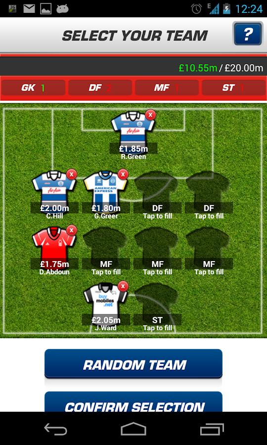 Fantasy Football League - screenshot