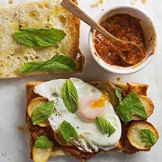 Fried Egg Sandwich with Potato and Romesco.