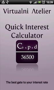 Quick Interest Calculator - screenshot thumbnail
