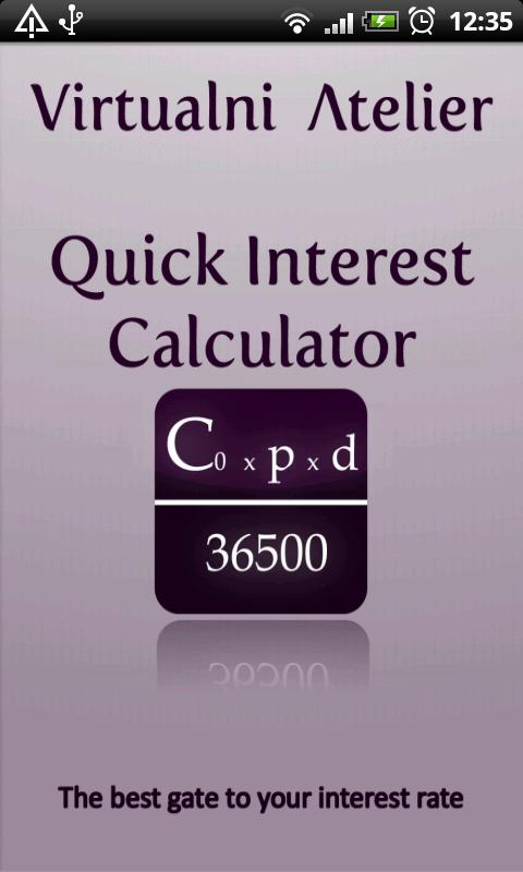 Quick Interest Calculator - screenshot