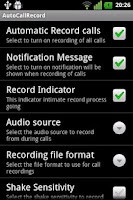 Screenshot of Free Auto Call Recorder