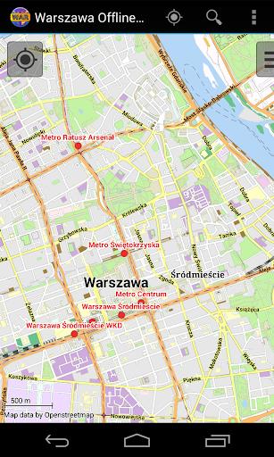 Warsaw Offline City Map