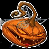 Halloween Evil Pumpkin Clock