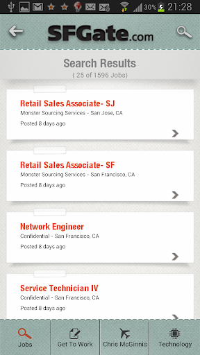 SFGate Jobs screenshot 2