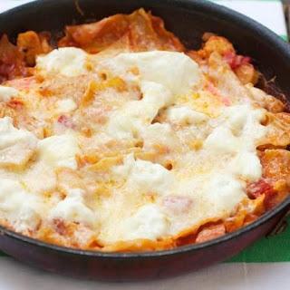 Skillet Buffalo Chicken Lasagna.