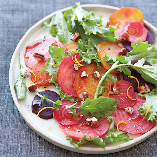 Roasted Beet and Curly Endive Salad with Balsamic Vinaigrette