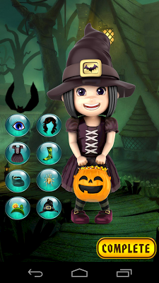 Halloween Girl Dressup Game - screenshot