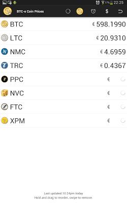 BTC-e Coin Price Checker - screenshot