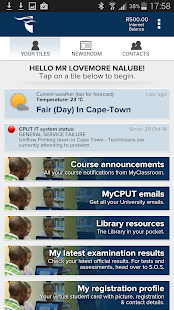 CPUT Mobile screenshot