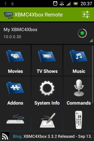 XBMC4Xbox Remote- screenshot