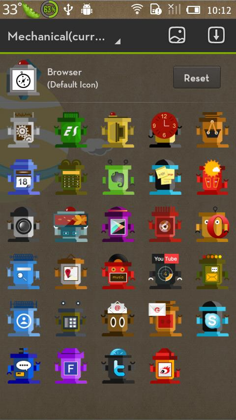 Mechanical GO LauncherEX Theme - screenshot