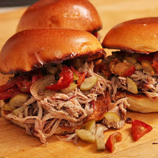 Easy Oven-Baked Pulled Pork Sandwiches.