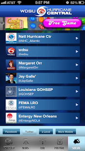 WDSU Hurricane Central - screenshot thumbnail