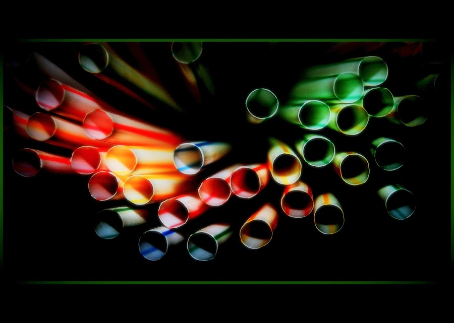 colourful straws by Tracy Hughes - Artistic Objects Other Objects ( abscract, coloured, blue, redgreen, yellow, straws,  )
