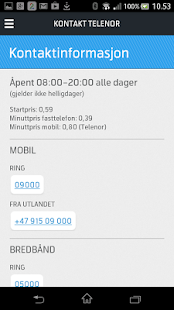 Mitt Telenor - screenshot thumbnail