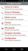 Screenshot of Free Mobile Contrôle