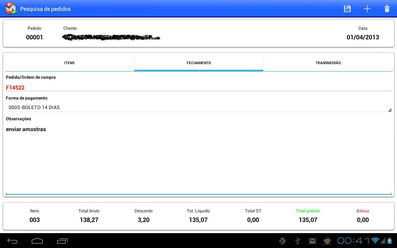 RacFV - Força de vendas - screenshot