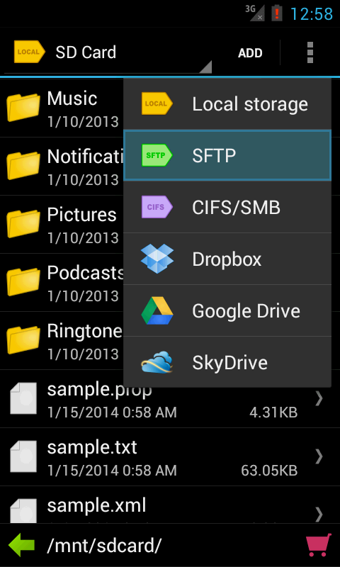 Folder Tag (Filer Manager) - screenshot