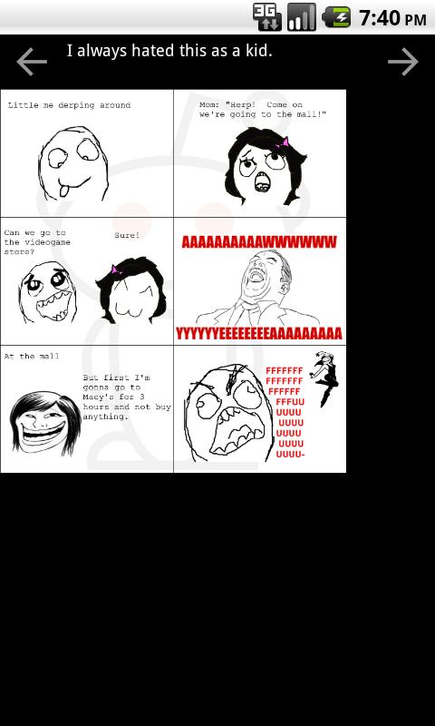 Rage Comics +- screenshot