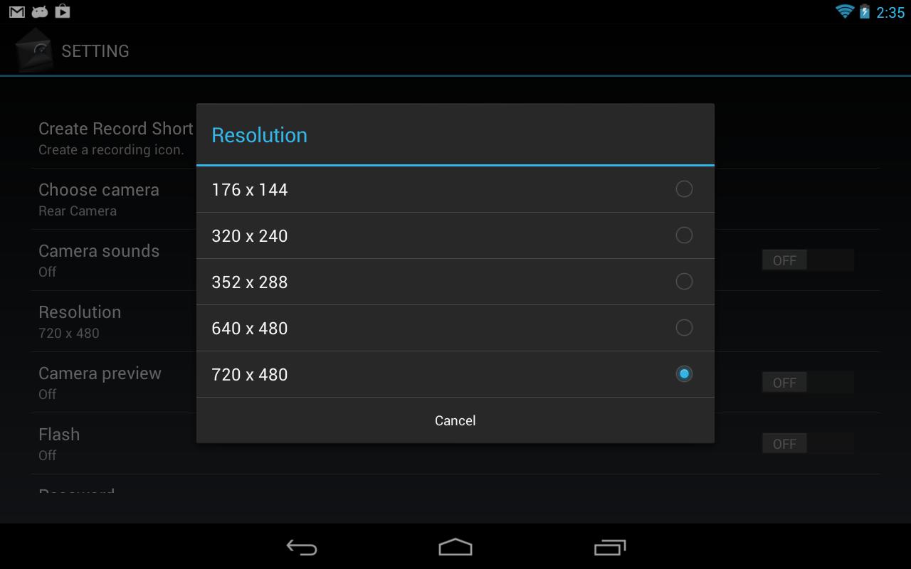 BLACK CAM SD- screenshot