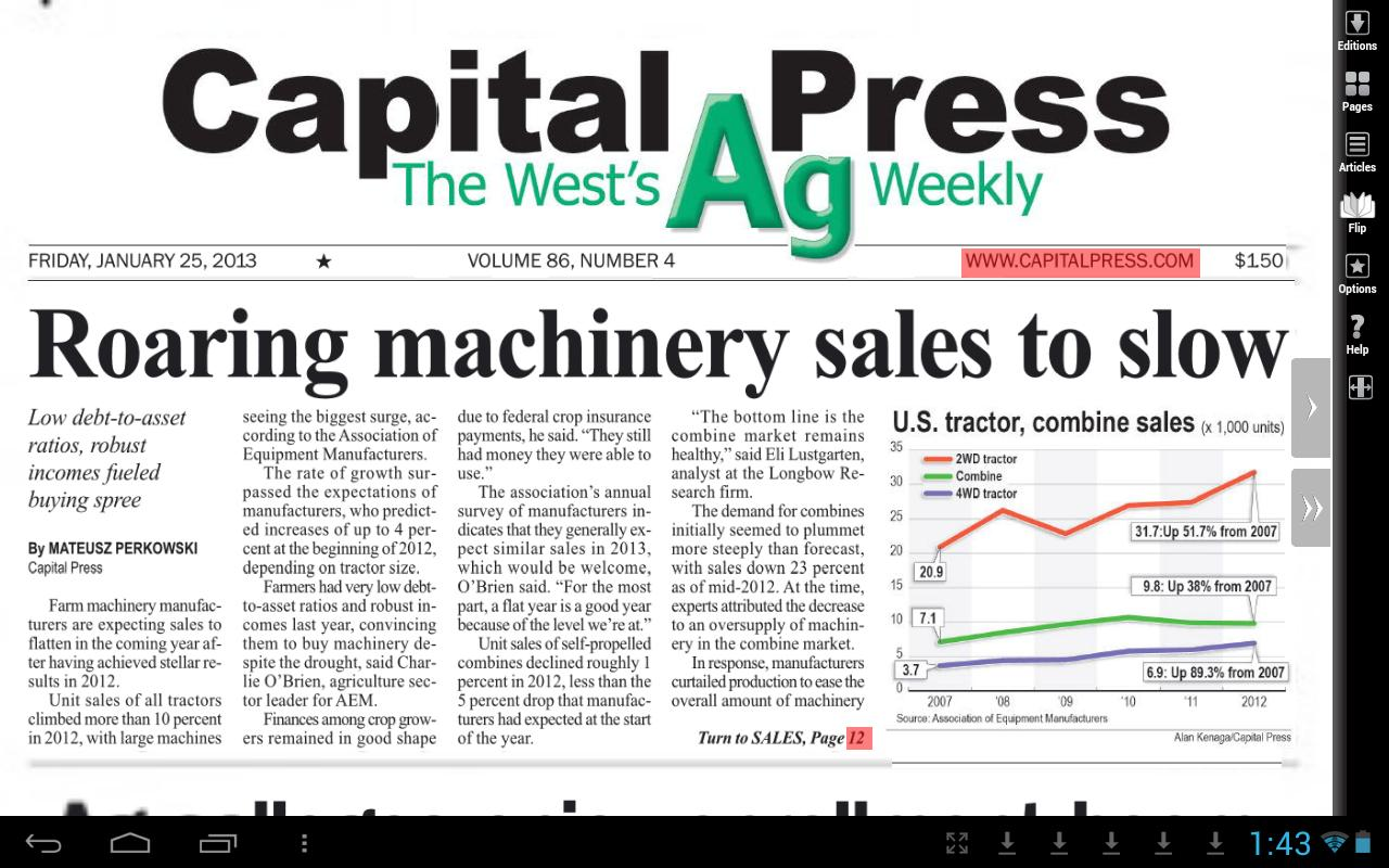 Capital Press e-Edition - screenshot