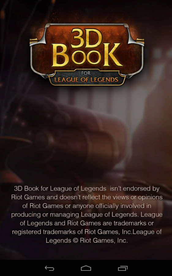 3D book for League of Legends- screenshot