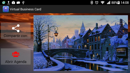 Virtual Business Card Gold