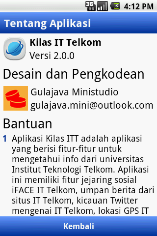 Kilas IT Telkom - screenshot