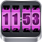 3D Rolling Clock PINK icon
