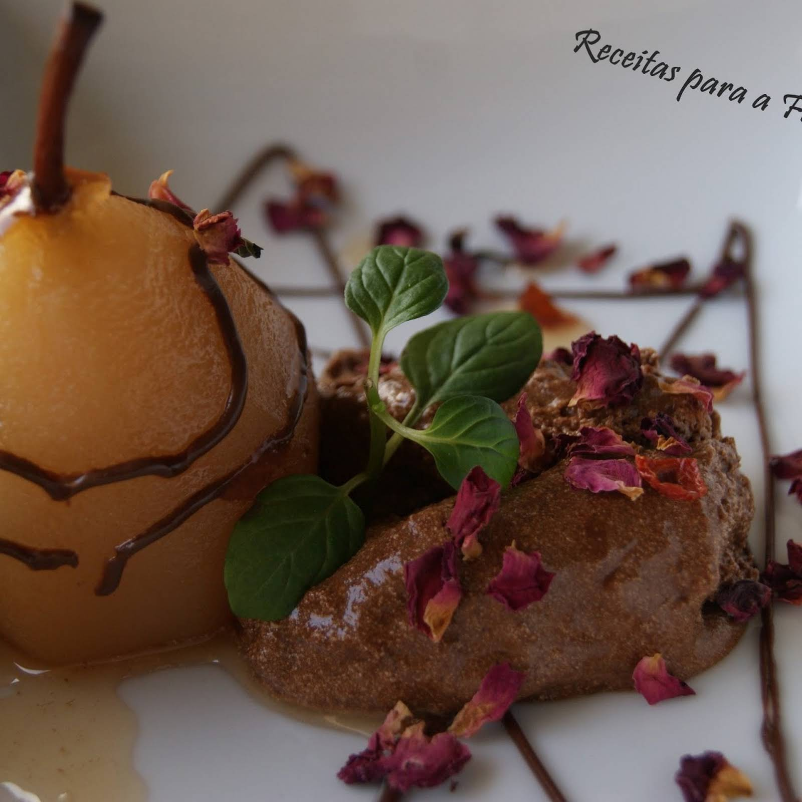 Chocolate Mousse  in the same way as Pears Baked in Rooibos Jelly Tea