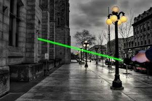 Screenshot of 3D Laser Pointer Simulator