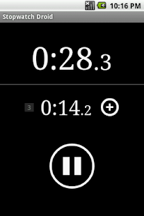 Stopwatch Droid- screenshot thumbnail