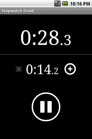 Stopwatch Droid- screenshot
