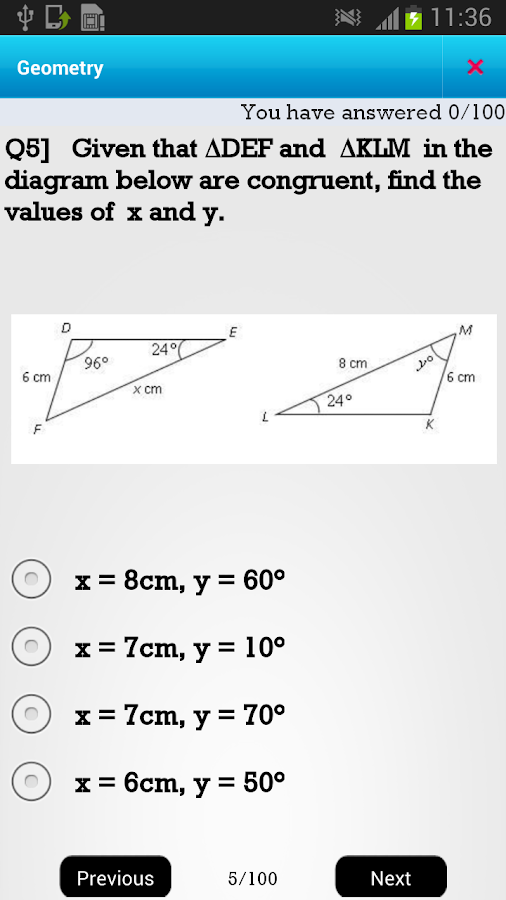 US 8th Math - screenshot