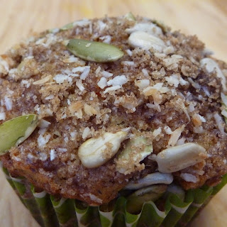 Carrot Orange Oatmeal & Walnut Muffins.