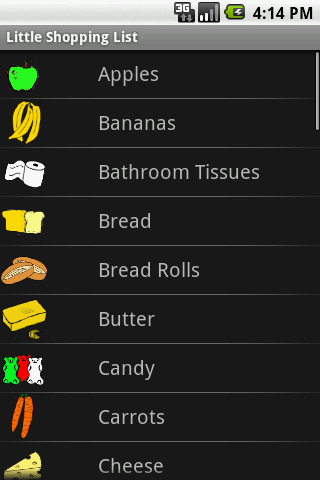Little Shopping List - screenshot