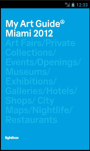 My Art Guide Miami 2012 PRO