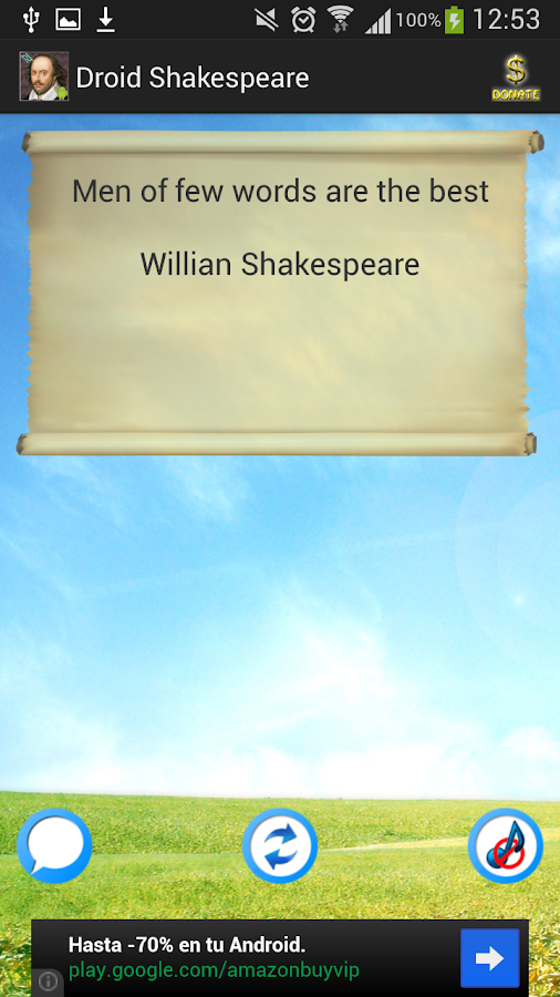 Citaten Shakespeare Android : Shakespeare droid android apps on google play