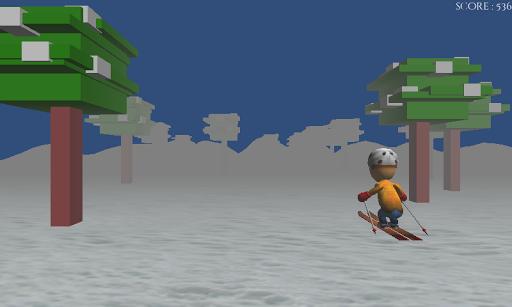 滑雪遊戲種族3D冬奧會